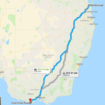 Maryborough to Great Ocean Road